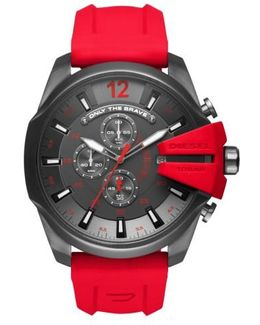 Diesel Mega Chief Chronograph Silicone Strap Watch