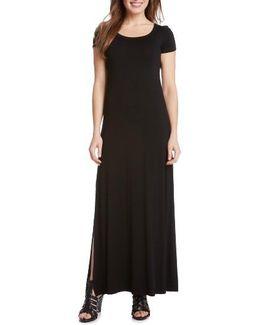Cap Sleeve Jersey Maxi Dress