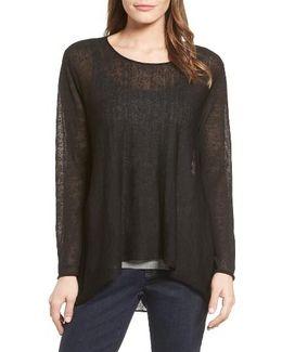 Organic Linen Blend Swing Sweater