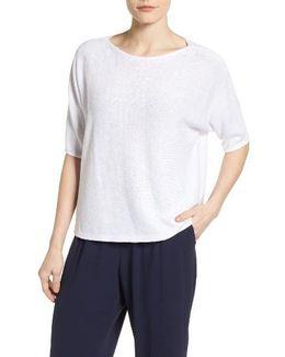 Organic Linen Boxy Sweater