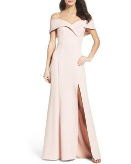 Portrait Collar Gown
