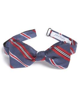 John W. Nordstrom Dotted Stripe Silk Bow Tie