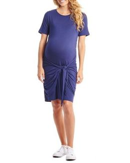 Maya Maternity/nursing Tie Waist Dress