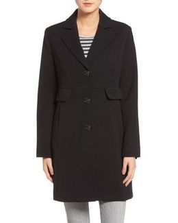 Kenneth Cole A-line Ponte Coat