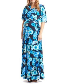 Asa Maternity/nursing Maxi Wrap Dress