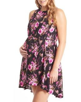 Crystal Maternity/nursing High/low Dress