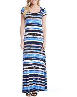 Painted Stripe Maxi Dress