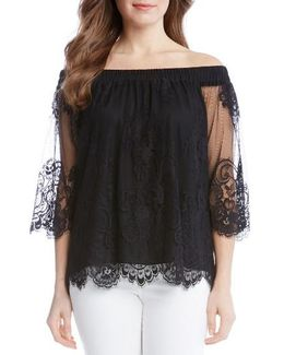 Off The Shoulder Lace Top