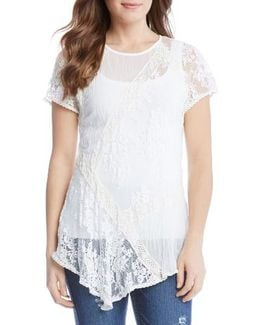 Multi Lace Panel Top