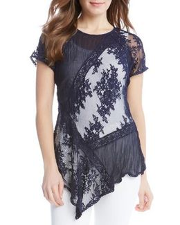Mix Lace Panel Top