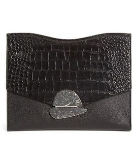 Medium Curl Leather Clutch Bag