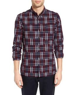 Slim Fit Ikat Check Sport Shirt