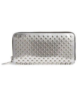 Panettone Spiked Metallic Leather Wallet - Metallic