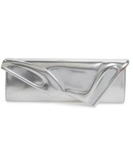 So Kate Metallic Leather Clutch - Metallic