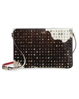 Loubiclutch Genuine Calf Hair Clutch - None