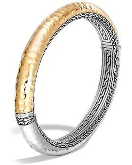 Classic Chain Hammered Hinge Bangle