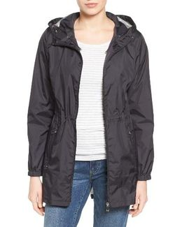 Packable Rain Jacket, Black