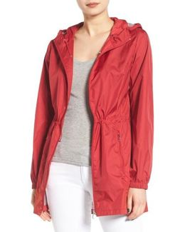 Packable Rain Jacket, Red