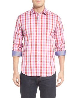 Shaped Fit Check Sport Shirt