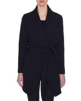 Abbey Draped Collar Wrap Coat