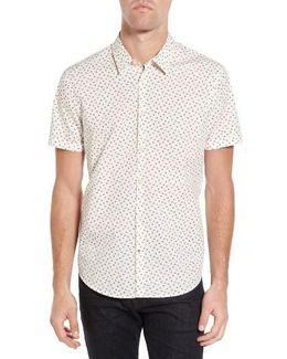 Mayfield Slim Fit Print Sport Shirt