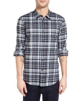 Mayfield Slim Fit Plaid Sport Shirt