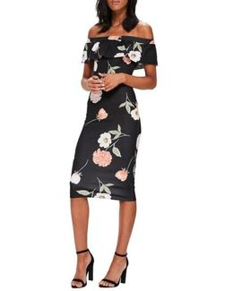 Bardot Off The Shoulder Midi Dress