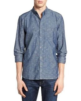 Print Slub Chambray Shirt