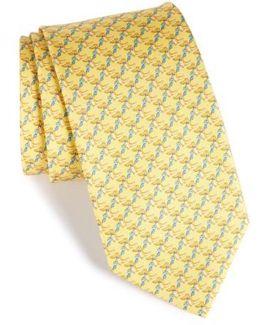 Crocodile Silk Tie