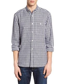 Lifeline Herringbone Gingham Sport Shirt