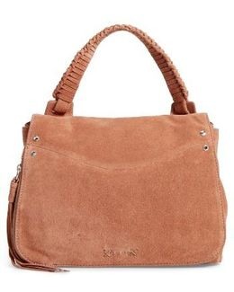 Small Trapeze Leather Satchel