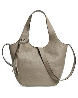 Small Finley Leather Shopper