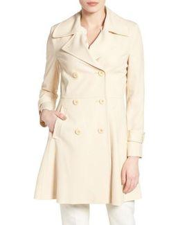 Rosemarie Skirted Trench Coat