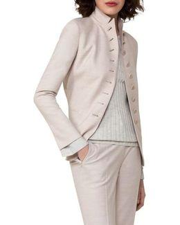 Stretch Wool Flannel Jacket