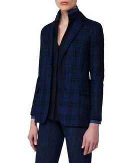 Check Silk & Cotton Jacket