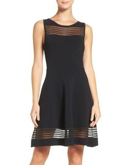 Tobey Crepe Fit & Flare Dress