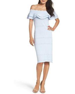 Off The Shoulder Sheath Dress
