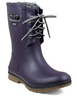 Amanda Plush Waterproof Rain Boot