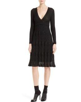 Wool Blend Empire Waist Dress