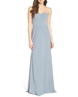Kylie Tie Back Strapless Gown