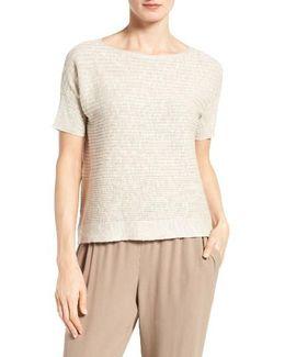 Organic Linen & Cotton Boxy Sweater