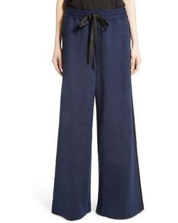 Jersey Wide Leg Drawstring Pants