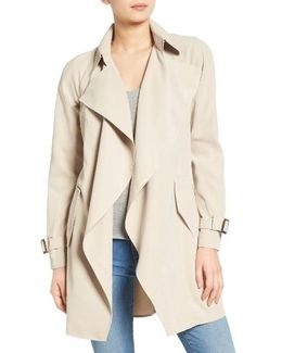 Belted Drapey Trench Coat