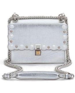 Small Kan I Metallic Leather Shoulder Bag - Metallic