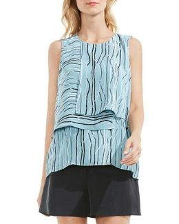 Electric Lines Tiered Blouse