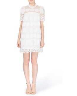Mona Embroidered Lace Shift Dress