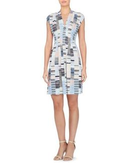 Tinka Print Jersey Fit & Flare Dress