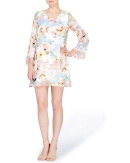 Babs Bell Sleeve Shift Dress