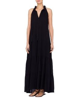Wylie Fringe Trim Maxi Dress