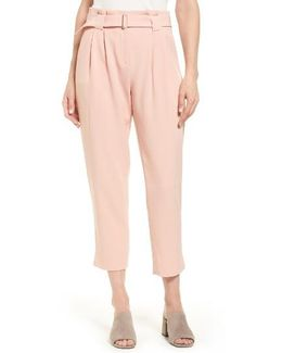 Arturo Belted Crop Pants
